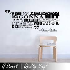 Amazon Com Bro Decals Wall Vinyl Decal Rocky Balboa Alt Inspirational Quote Bedroom Home Vinyl Decor Sticker Home Art Print Br3214 Home Kitchen