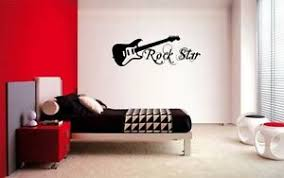 Guitar Rock Star Decal Wall Vinyl Decor Sticker Bedroom Music Kids Children 36 Ebay
