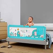 Bed Rail Baby Bed Fence Safety Child Barrier For Beds Crib Rail Security Fencing For Children Guardrail Safe Kids Playpen Mesh Lifting Design Color Blue Size 180 80cm Amazon Co Uk
