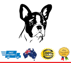 Boston Terrier Head Dog Car Decal Sticker Vinyl Window Ebay
