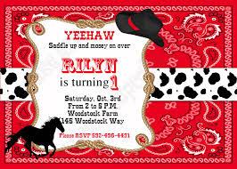 Cowboy Birthday Decorations Printable Invitation By Cupca