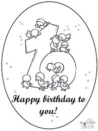 Hoera 10 Jaar Kleurplaten Verjaardag