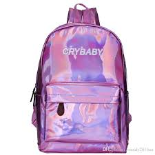 cry baby backpack holographic