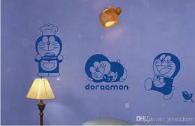 Japanese Kawaii Cartoon Character Doraemon Cat Removable Vinyl Wall Decal Stickers For Childrens Room Decor Tree Wall Stickers For Bedrooms Unique Wall Decals From Joystickers 15 29 Dhgate Com
