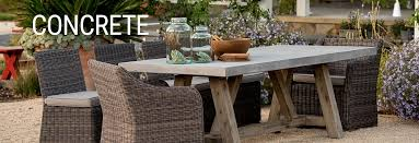 light concrete patio furniture