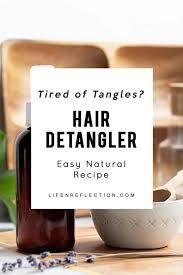 natural homemade hair detangler recipe