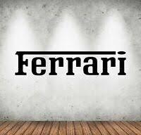 Ferrari Shield Badge Colour Wall Decal Decor Garage Big Wall Car Sticker Decal Ebay