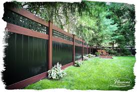 Rosewood And Black Pvc Vinyl Privacy Fence Illusions Fence