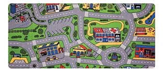 Learning Carpets City Life Play Carpet 79 X36 Rect Kids Playroom Road Rug Classroom Furniture Toddler Playmat Rug For Daycare Homeschool Multi Color Lc206 Nursery Rugs Amazon Com Toys Games