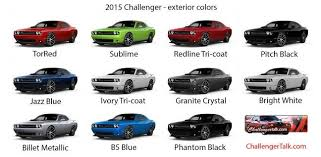 factory colors dodge challenger 2018