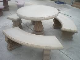 concrete cement tan colored round patio