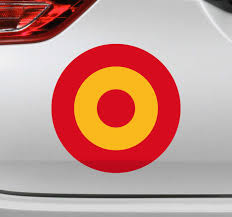 Awesome Spain Air Force Flag Car Sticker Tenstickers