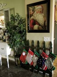 Old Fence Turned Stocking Holder Little Bit Of Paint Christmas Deco Christmas Christmas Wood
