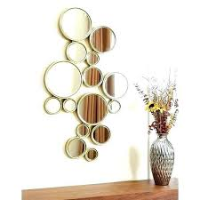 small round mirrors wall art decorating