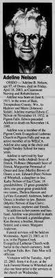 Adaline Nelson obituary - Newspapers.com