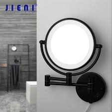 jieni matte black makeup mirror led