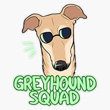 Amazon Com Greyhound Squad Fawn Vinyl Waterproof Sticker Decal Car Laptop Wall Window Bumper Sticker 5 Automotive