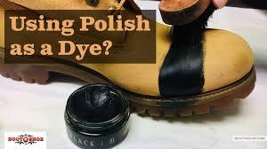 black shoe polish on my brown boots