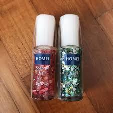 homei spangle nail green glitter nail