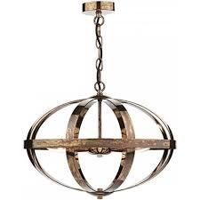 sym0364 petrol copper 3 light ceiling light