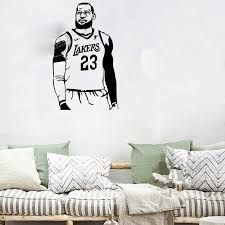 New Arrival High Quality Basketball Star Lebron James Wall Sticker Home Decor Decal For Boy S Room Gift Vinyl Wall Mural Wall Stickers Aliexpress