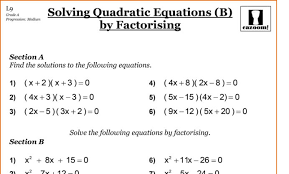 grade 10 academic math worksheets