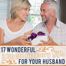 20th anniversary gifts for your husband