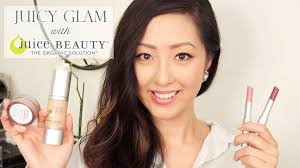 juicy glam makeup with juice beauty