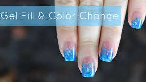 how to gel nails fill color change