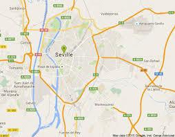 Sevilla Harita. Sevilla'nın Haritası