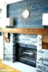 stacked stone fireplace diy how to