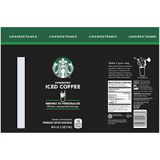 unsweetened iced coffee 48 fl oz