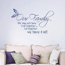Our Family Quote Words Phrases Removable Art Vinyl Wall Sticker Living Room Bedroom Hallway Portrait Kitchen Home Decal B068 Family Quotes Vinyl Wall Stickerswall Sticker Aliexpress