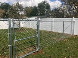 C C Fence Co 6ft Vinyl Privacy And A 5ft Tall Chainlink Facebook