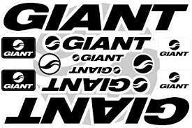 Amazon Com Giant Decals Stickers Bicycle Frame Replacement Graphic Set 2