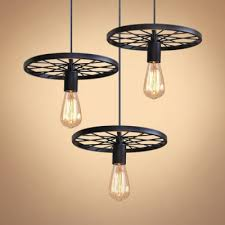 industrial open bulb pendant light with