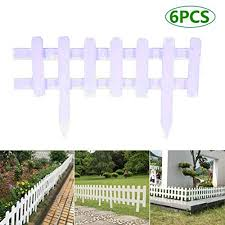 Amazon Com Garden Fence Garden Lawn Edging 6 Pack White Brown Miniature Fairy Garden Wood Picket Fence Diy Mini Ornament For Dollhouse Home Garden Garden Outdoor
