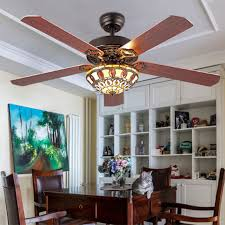52 inch brown wood blades ceiling fans