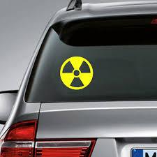 Radioactive Symbol Vinyl Sticker Decals Bottle Decor Radiation Symbol Decal For Apple Macbook Pro Air Laptop Car Decoration Wall Stickers Aliexpress