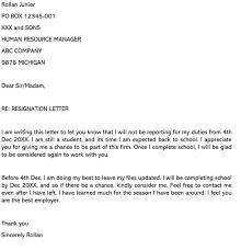 sle resignation letters going back
