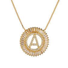 gold long necklace white designer cubic
