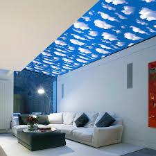 Creative Blue Sky White Clouds Wallpaper Stickers Diy Ceiling Decor Sticker Wall Paper Waterproof Kids Room Decoration Xn202 Wall Stickers Aliexpress