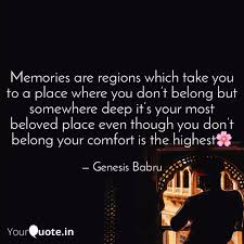 memories are regions whic quotes writings by genesis babru