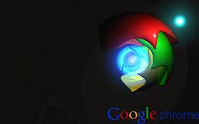 google chrome puter logo poster