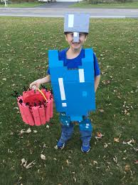 Minecraft Steve with Iron Helmet ...
