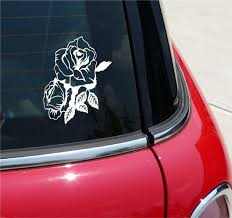 Double Rose Roses Flower Flowers Graphic Decal Sticker Vinyl Car Wall