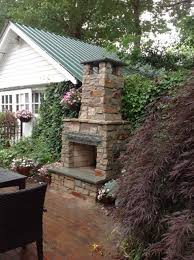 patio fireplace stone small outdoor