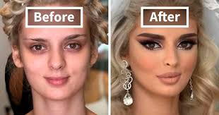 after brides got their wedding makeup