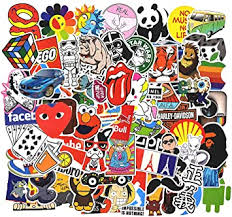 Amazon Com Stickers Pack Cool 100 Pcs Vinyl Waterproof Stickers For Laptop Luggage Car Skateboard Motorcycle Bicycle Decal Graffiti Patches Electronics
