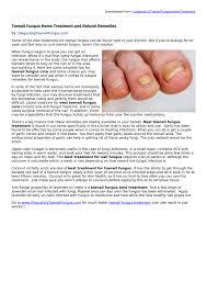 ppt toenail fungus home treatment and